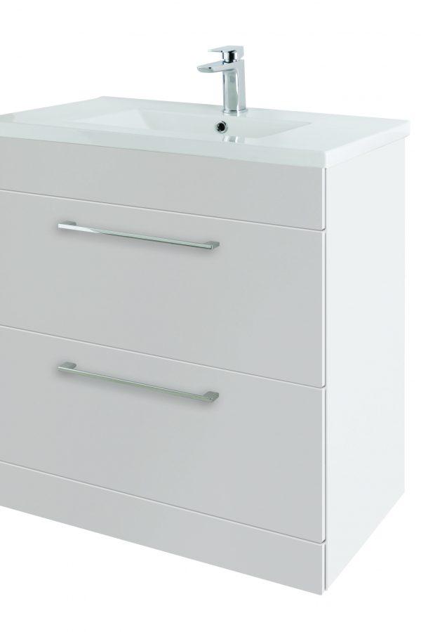 800mm Floor Standing – Gloss White (Unit Only)