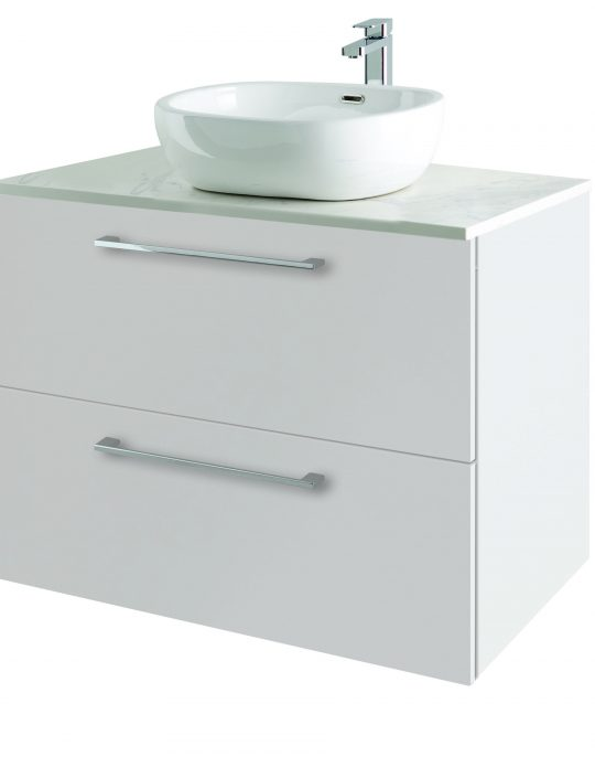 800mm Wall Hung – Gloss White (Unit Only)