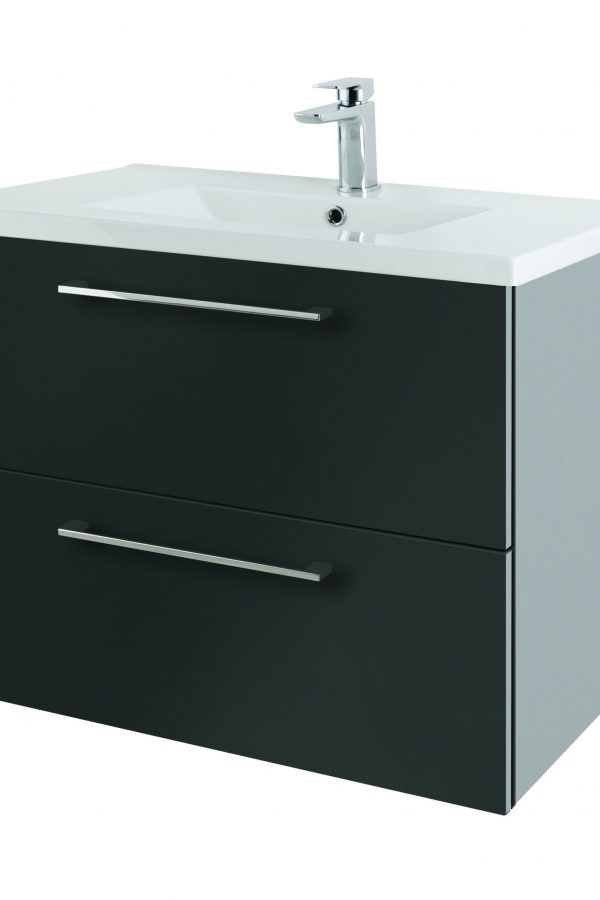 800mm Wall Hung – Gloss Graphite (Unit Only)