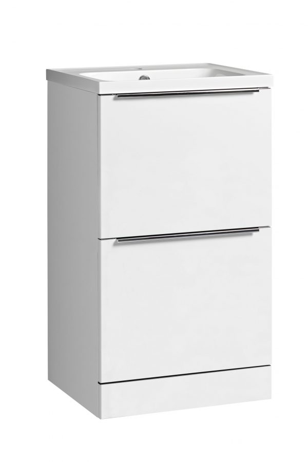 Cadence 500 Floor Mounted Unit Gloss White
