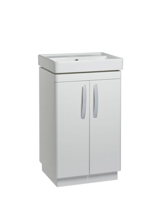 500mm Floor Unit – White (Unit Only)