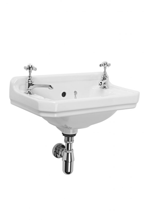 Vitoria 500mm Cloakroom 2 Tap Hole Basin Only