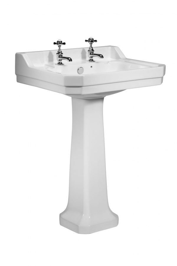 Vitoria 605mm 2 Tap Hole Square basin only