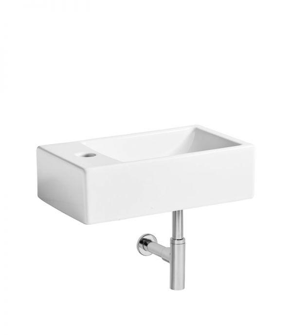 Cloakroom Basins Matrix LH Wall hung basin