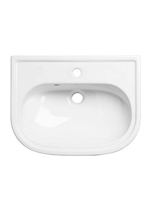 Slim Depth Semi Countertop Basin 1 Tap Hole
