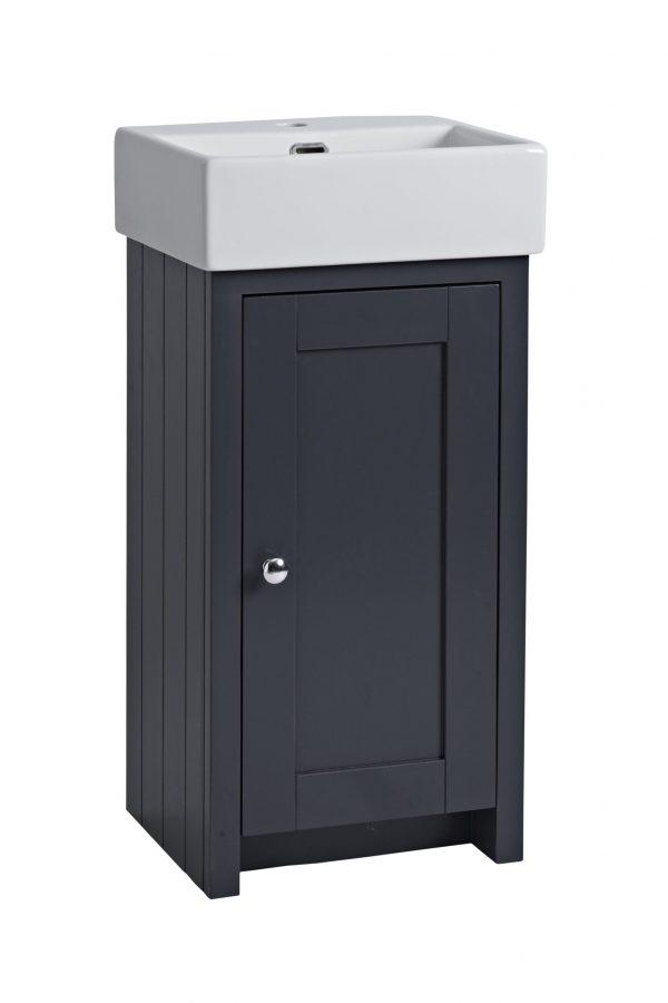 400mm Cloakroom Unit – Dark Grey Matt