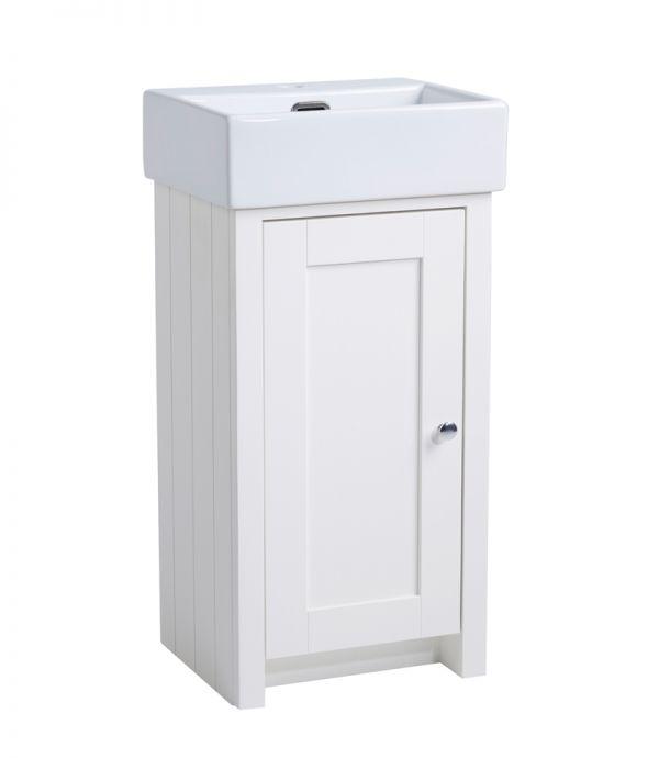 400mm Cloakroom Unit – Linen White