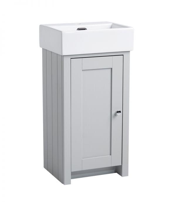 400mm Cloakroom Unit – Pebble Grey