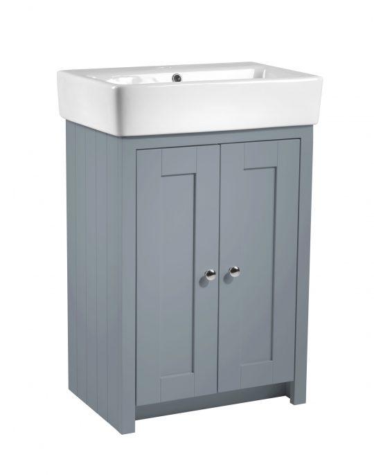 Lansdown – 575mm Vanity Unit Mineral Blue