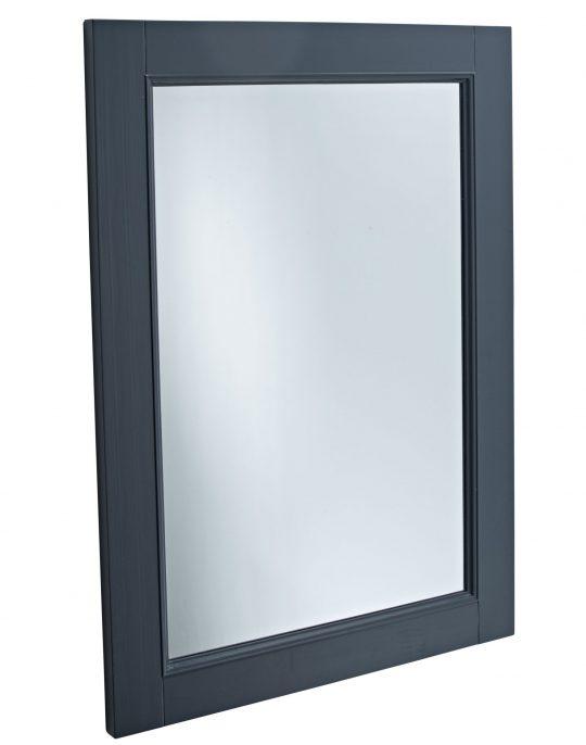 570mm Wooden Framed Mirror – Dark Grey Matt