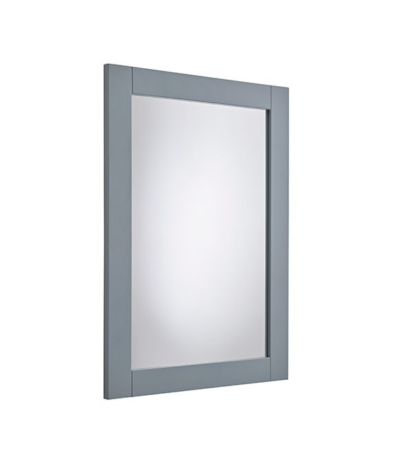 Lansdown – Wooden Framed Mirror Mineral Blue