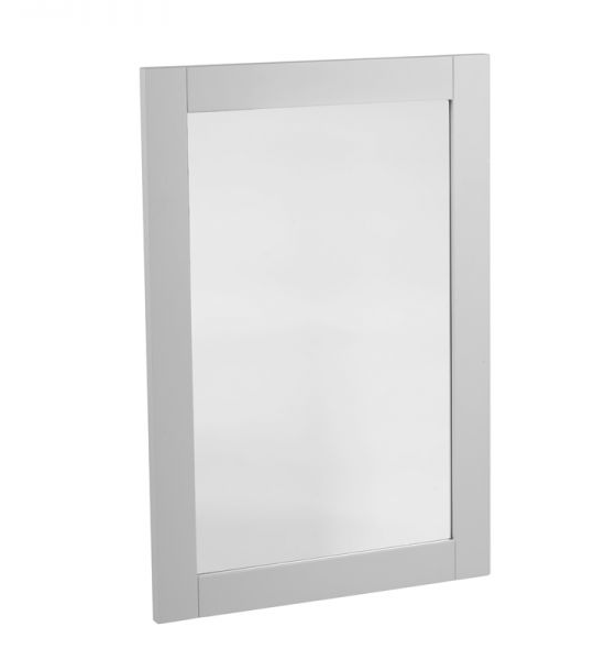 570mm Wooden Framed Mirror – Pebble Grey