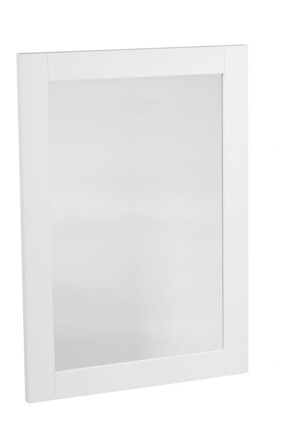 570mm Wooden Framed Mirror – Linen White