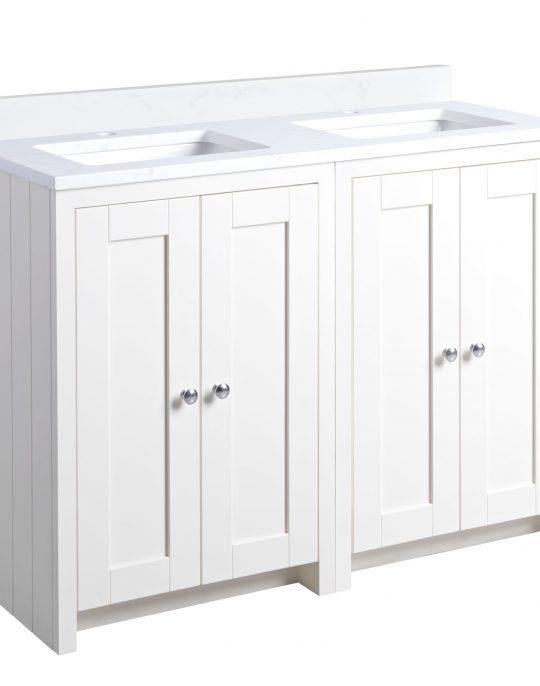 Lansdown Double 1200mm Worktop Unit – Linen White