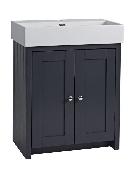 700mm Vanity Unit Only – Dark Grey Matt