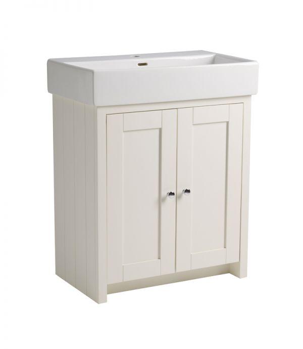 700mm Vanity Unit Only – Linen White