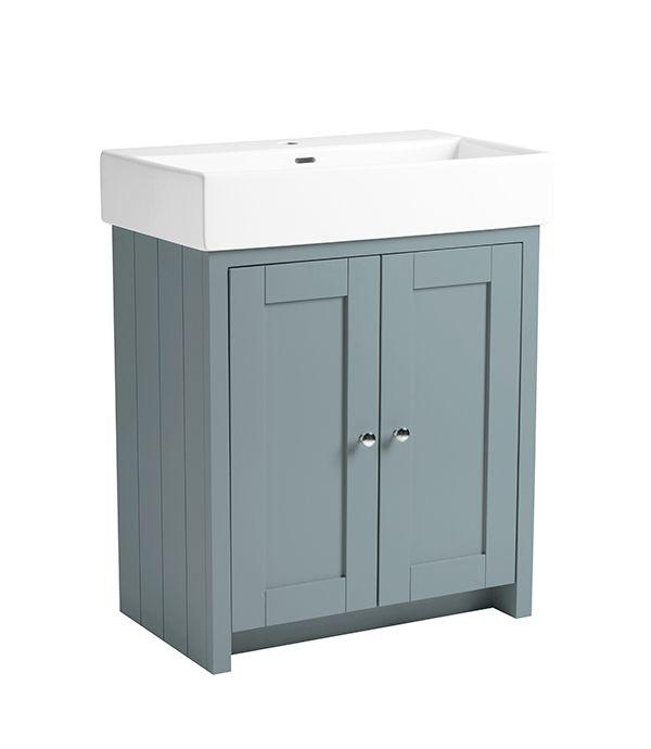 Lansdown – 700mm Vanity Unit Mineral Blue