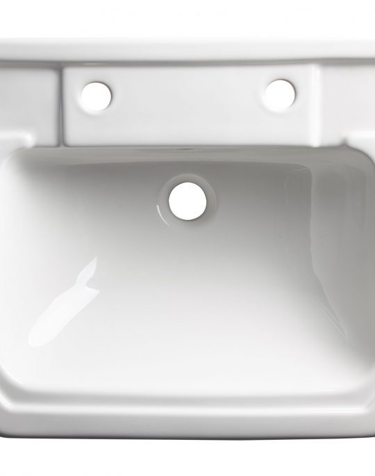 Vitoria 550mm Semi-Countertop 2 Tap Hole Basin Only