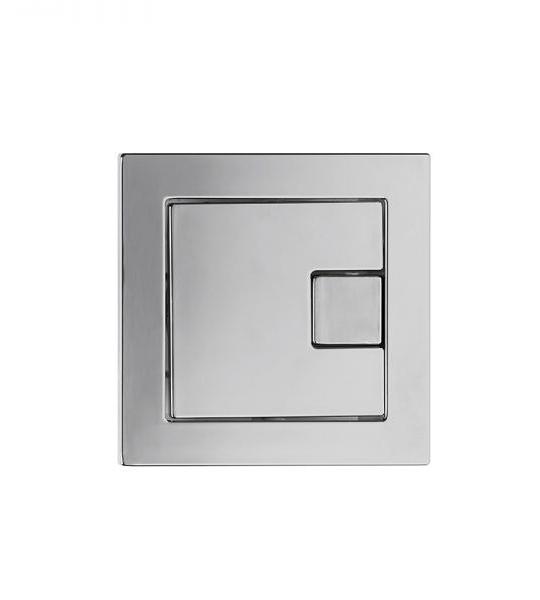 Flush Plate Options Square Dual Flush Button – Chrome