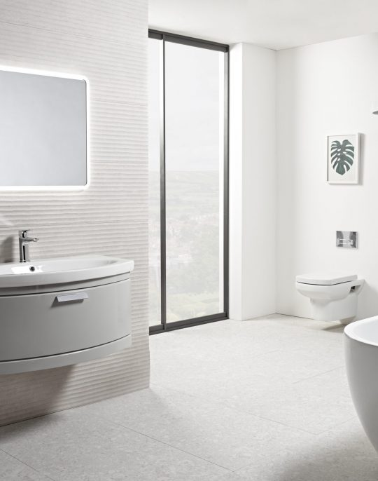 900mm Wall Mounted Only – Light Grey