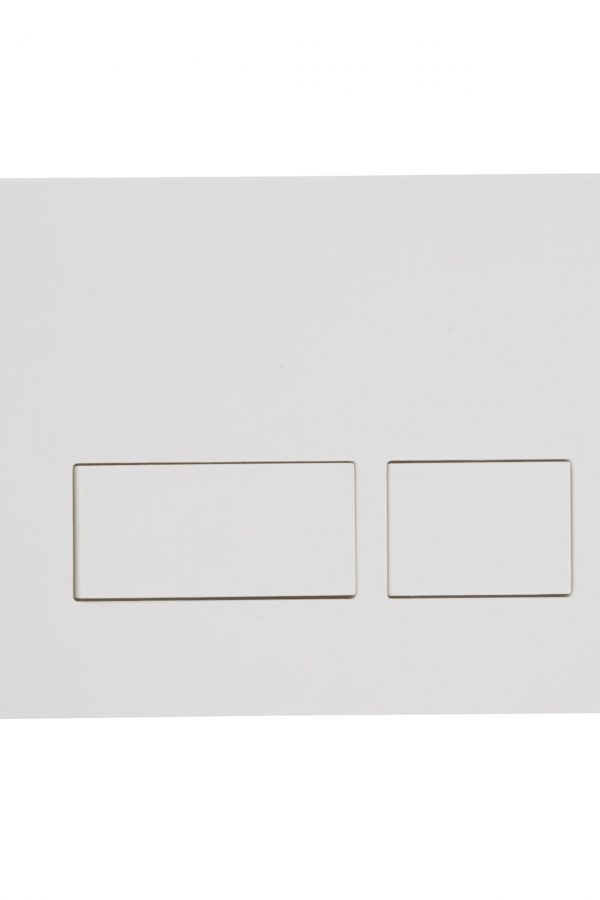 Flush Plate Options Square Flush Plate – White