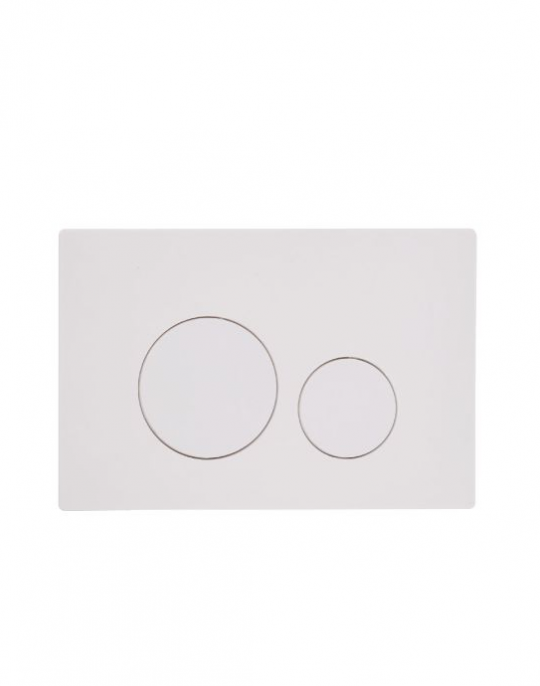 Flush Plate Options Circles Flush Plate – White