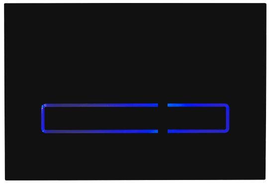 Flush Plate Options Sensor Flush Plate – Black with Blue LED