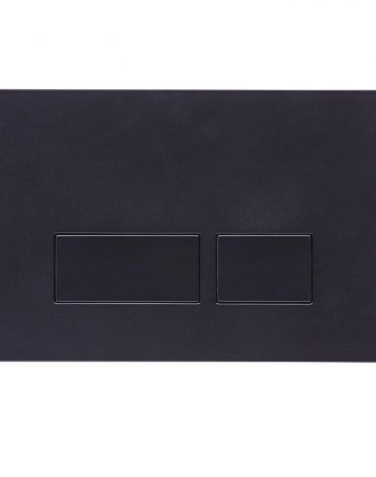 Flush Plate Options Square Flush Plate – Black