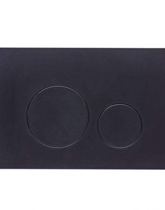 Flush Plate Options Circles Flush Plate – Black