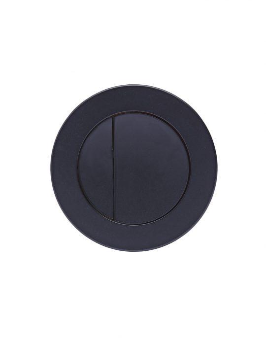 Flush Plates Round Push Button Black
