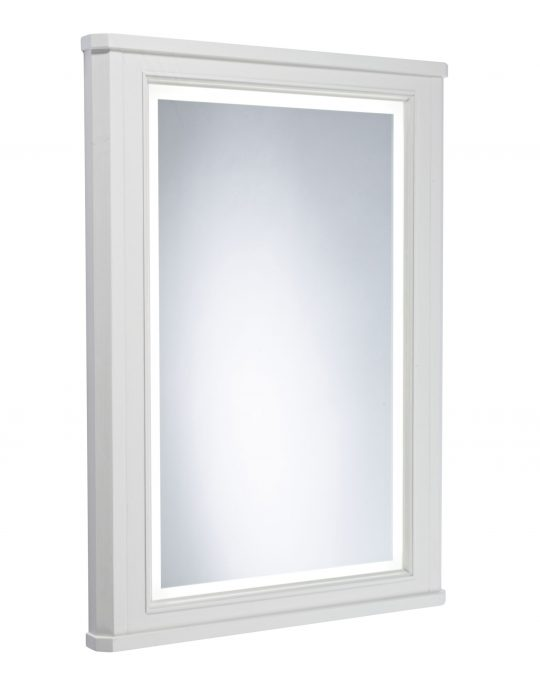 Vitoria – 600mm Illuminated Mirror Frame – Linen White