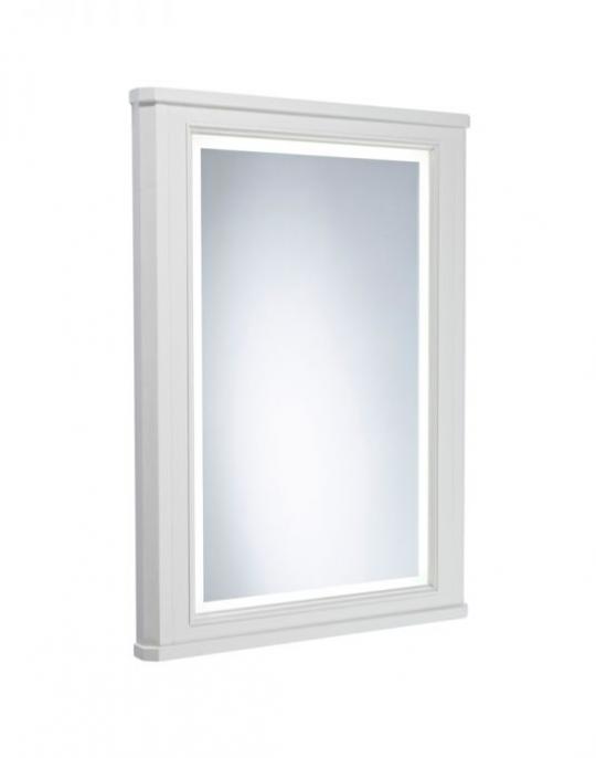 600mm Illuminated Mirror Frame – Pebble Grey