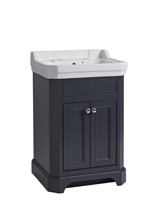 600mm Basin Unit – Dark Grey