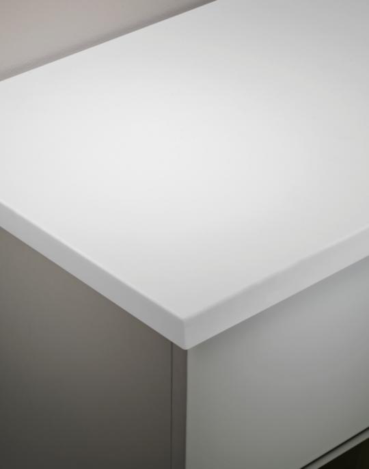 600mm Underslung Worktop – Artic White