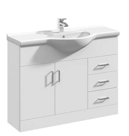 1080mm Base Unit Only – White