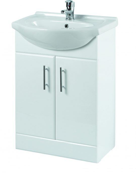 550mm Base Unit Only – White