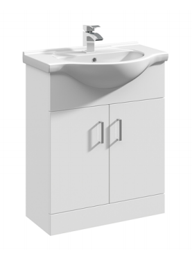 650mm Base Unit Only – White