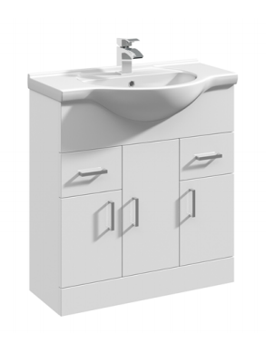 750mm Base Unit Only – White