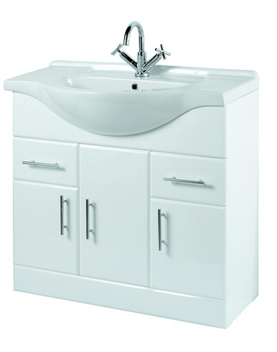 850mm Base Unit Only – White
