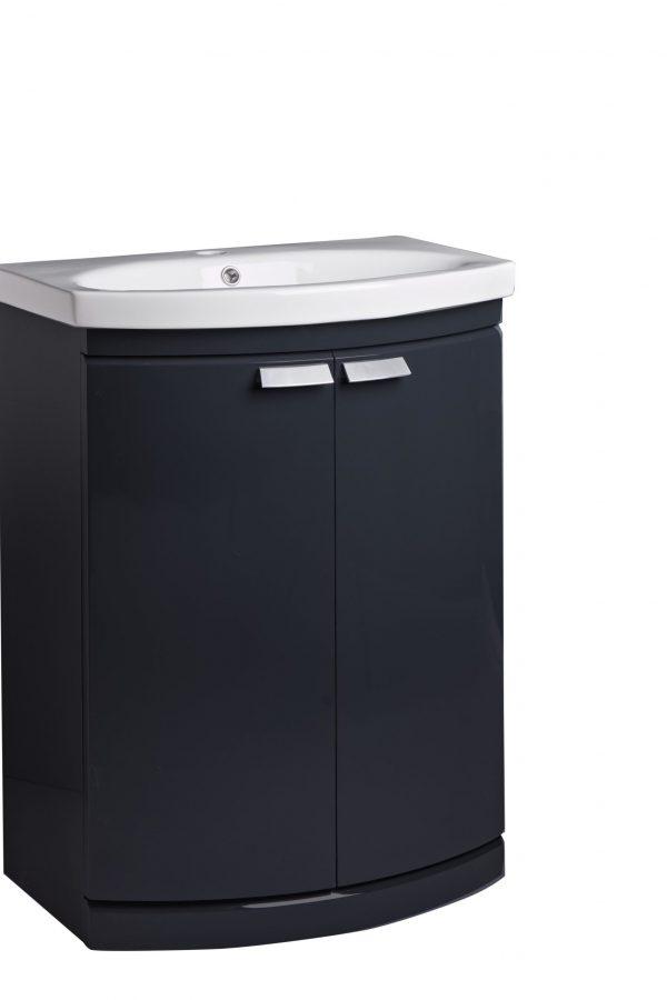 650mm Floor Standing Unit – Dark Grey Gloss