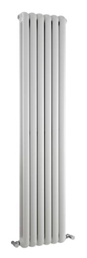 1500×383 Salvia Double Panel Radiator – White