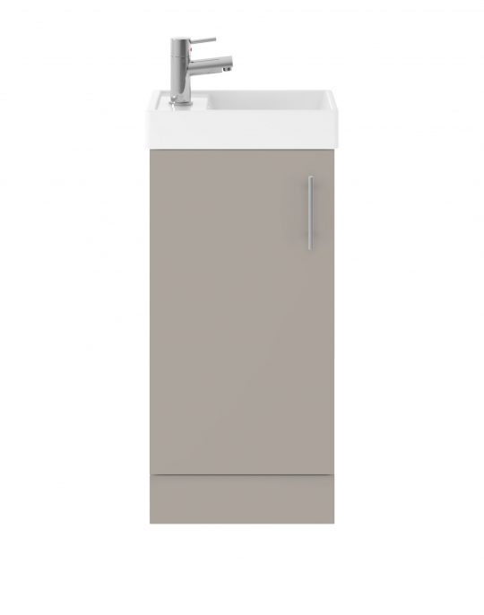 861mm Floor Standing Basin & Cabinet – Matt Stone Grey