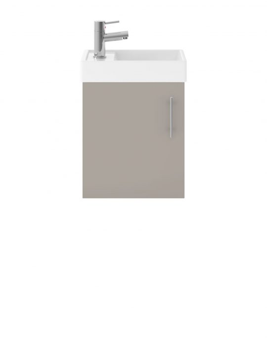 520mm Wall Hung Basin & Cabinet – Matt Stone Grey