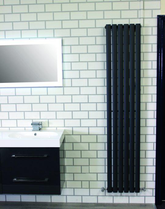 1800×360 Spoletto Single Panel – Black