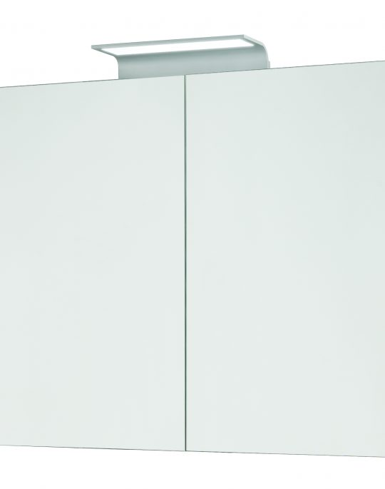 800mm Mirror Cabinet – Gloss Graphite (Unit Only)