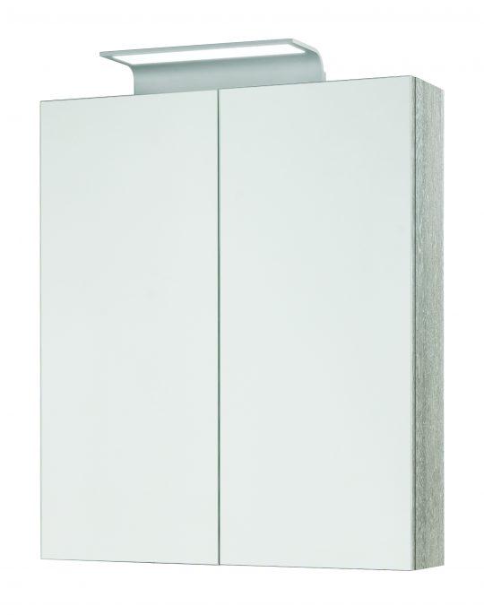 600mm Mirror Cabinet – Grey Molina Oak (Unit Only)