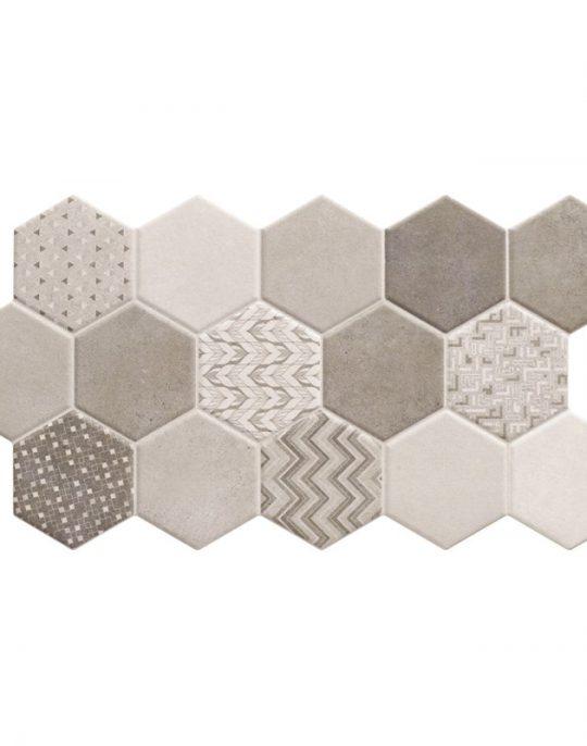 Habitat Hex Ice Pattern Tile