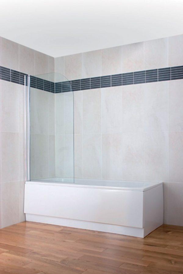 Curved Top Bath Screen – Silver