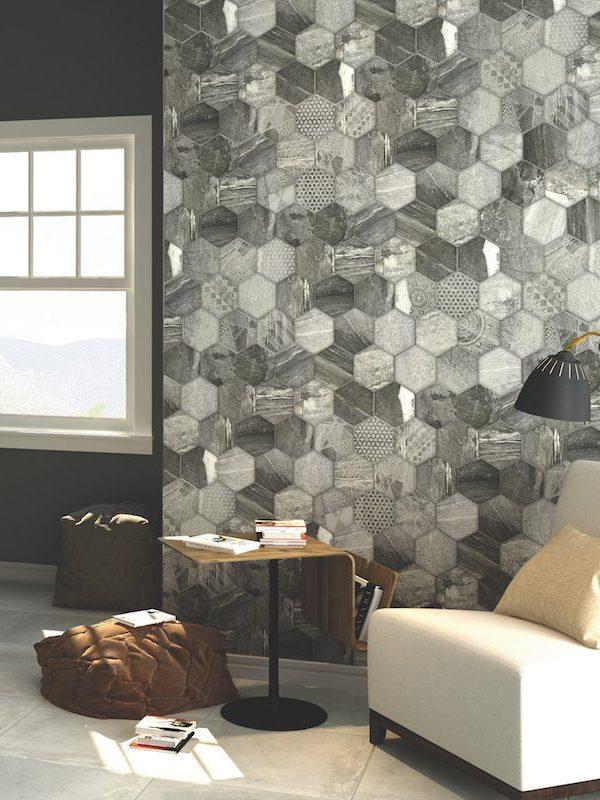Vesta Mix Hex Pattern Tile